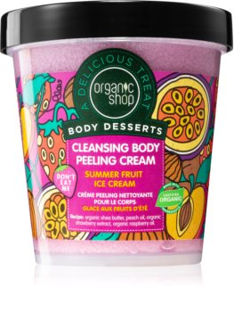 Organic Shop Body Desserts Summer Fruit Ice Cream tisztító és peelinges krém