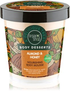 Organic Shop Body Desserts Almond & Honey mousse corpo nutriente e idratante