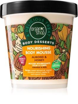 Organic Shop Body Desserts Almond & Honey Kropsmousse med nærende og fugtende effekt