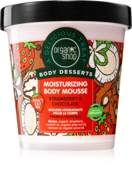 Organic Shop Body Desserts Strawberry & Chocolate αφρός σώματος με ενυδατικό αποτέλεσμα