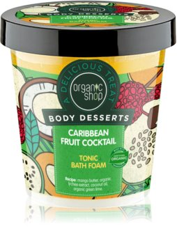 Organic Shop Body Desserts Caribbean Fruit Cocktail mousse per bagno tonificante