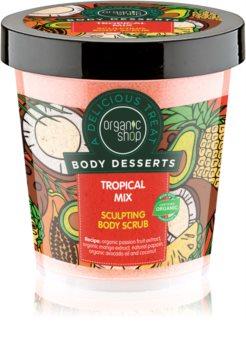 Organic Shop Body Desserts Tropical Mix exfoliant corporal pentru slăbire