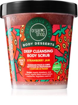 Organic Shop Body Desserts Strawberry Jam gommage purifiant en profondeur corps