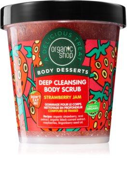 Organic Shop Body Desserts Strawberry Jam hloubkově čisticí peeling na tělo