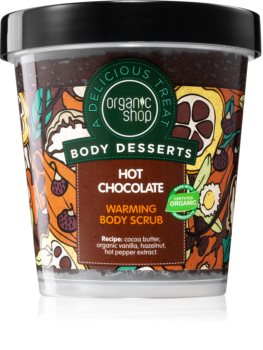 Organic Shop Body Desserts Hot Chocolate tápláló testpeeling
