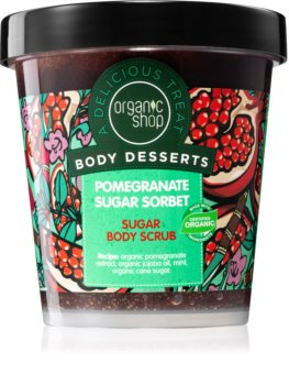 Organic Shop Body Desserts Pomegranate Refreshing Sugar Scrub for Body