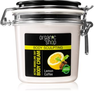 Organic Shop Body Sculpting Lemon Coffee Blød bodycreme Med remodellerende effekt