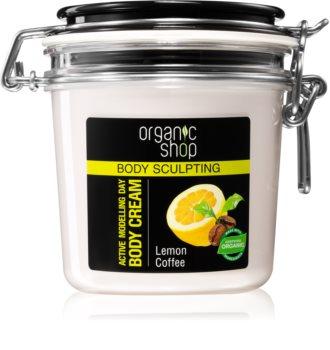 Organic Shop Body Sculpting Lemon Coffee crema delicata efect de remodelare.