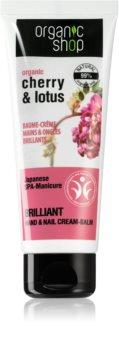 Organic Shop Organic Cherry & Lotus erősítő balzsam kézre és körmökre