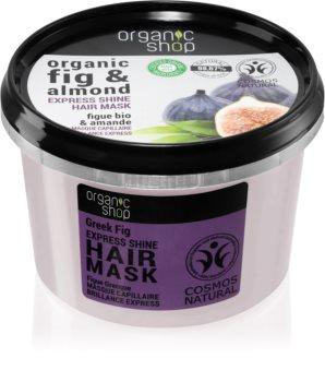 Organic Shop Organic Fig & Almond pečující maska pro lesk a hebkost vlasů