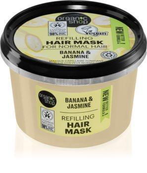 Organic Shop Organic Jasmine & Jojoba Maske für die Haare für mehr Volumen
