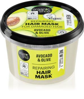 Organic Shop Organic Avocado & Honey Herstellende Haarmasker