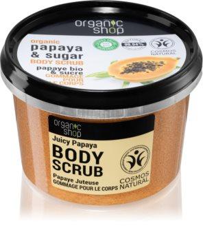 Organic Shop Organic Papaya & Sugar exfoliant de corp cu zahăr
