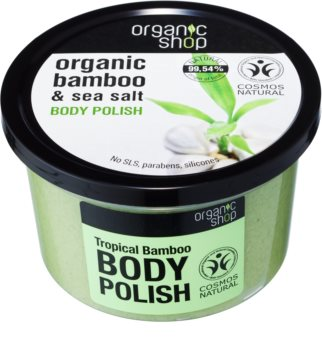 Organic Shop Organic Bamboo & Sea Salt scrub energizzante corpo