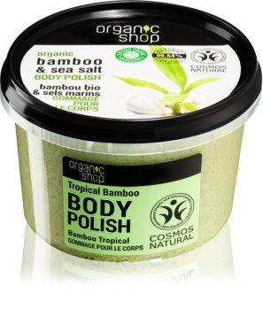 Organic Shop Organic Bamboo & Sea Salt energizujúci telový peeling