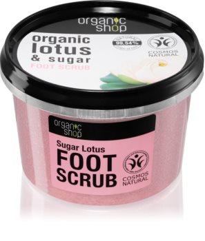 Organic Shop Organic Lotus & Sugar cukrový peeling na nohy