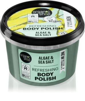 Organic Shop Organic Algae & Sea Salt tělový peeling