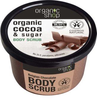 Organic Shop Body Scrub Cocoa & Sugar peeling corporal