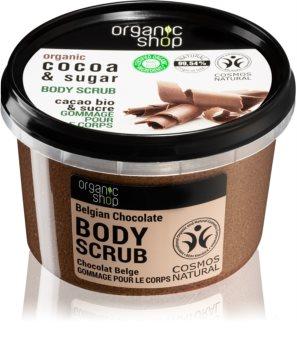 Organic Shop Body Scrub Cocoa & Sugar Vartalokuorinta