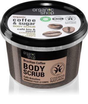 Organic Shop Organic Coffee & Sugar exfoliant de corp, cu cafea