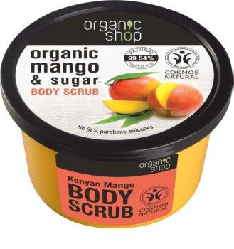 Organic Shop Body Scrub Mango & Sugar esfoliante corporal para pele sedosa e suave