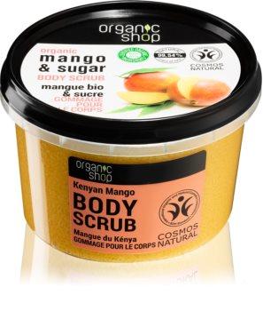 Organic Shop Body Scrub Mango & Sugar testpeeling a selymes bőrért