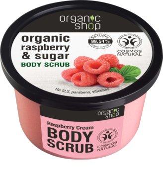 Organic Shop Body Scrub Ruspberry & Sugar scrub delicato corpo