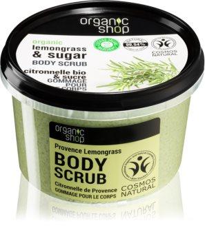 Organic Shop Organic Lemongrass & Sugar exfoliante suave para corpo