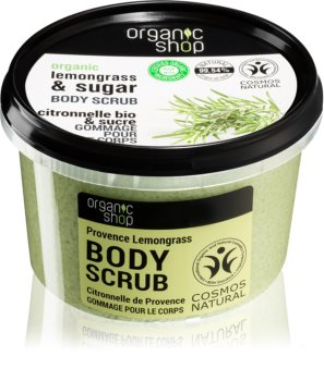 Organic Shop Organic Lemongrass & Sugar jemný peeling na tělo