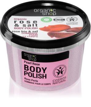 Organic Shop Organic Rose & Salt tělový peeling se solí