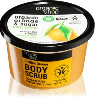 Organic Shop Organic Orange & Sugar peeling tonificante per il corpo
