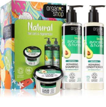 Organic Shop Natural Hair Care & Regeneration подаръчен комплект (За коса)