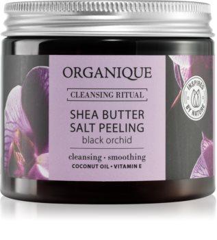 Organique Black Orchid solný peeling s bambuckým máslem