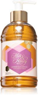 Oriflame Milk & Honey Gold Amber Elegance jemný sprchový gel na ruce a tělo