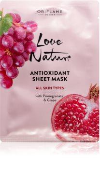 Oriflame Love Nature Moisturising face sheet mask