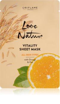 Oriflame Love Nature plátenná maska pre všetky typy pleti