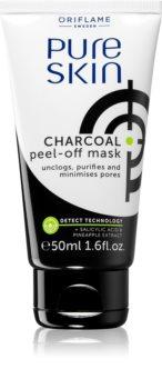 Oriflame Pure Skin Abziehtuch-Gesichtsmaske mit Aktivkohle