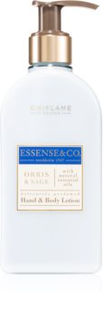 Oriflame Essense and Co Orris & Sage mléko na ruce a tělo s esenciálními oleji