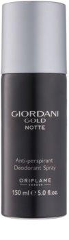 Oriflame Giordani Gold Notte desodorante en spray para hombre 150 ml