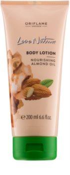 Oriflame Love Nature leite corporal com óleo de amêndoas