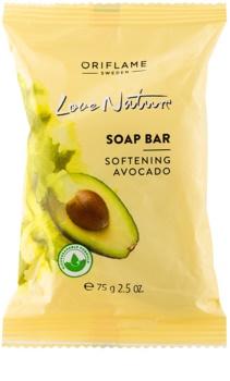 Oriflame Love Nature sabão em barra com aroma de abacate