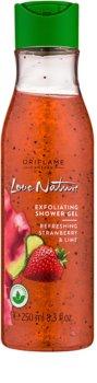 Oriflame Love Nature gel de banho esfoliante