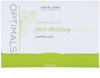 Oriflame Optimals Oxygen Boost papírky na zmatnění
