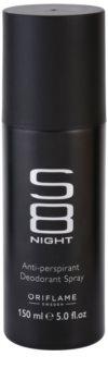Oriflame S8 Night deodorant spray para homens