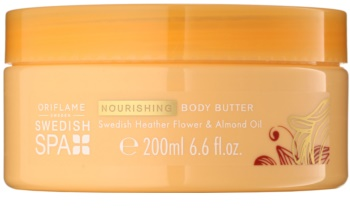 Oriflame Swedish Spa manteiga corporal  com óleo de amêndoas