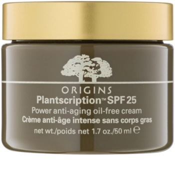 Origins Plantscription™ creme anti-envelhecimento não contém óleo