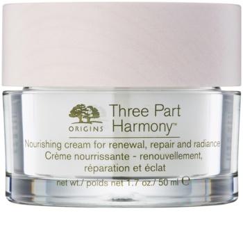 Origins Three Part Harmony™ creme nutritivo para restaurar a densidade da pele com efeito iluminador