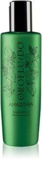 Orofluido Amazonia™ champú embellecedor y regenerador para cabello dañado y frágil