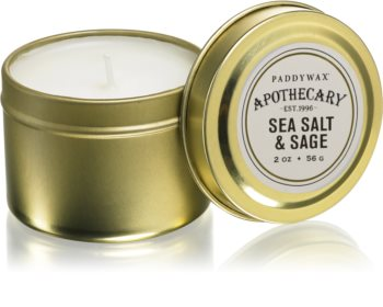 Paddywax Apothecary Sea Salt & Sage Duftkerze in blechverpackung