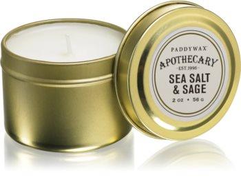 Paddywax Apothecary Sea Salt & Sage vonná svíčka v plechovce